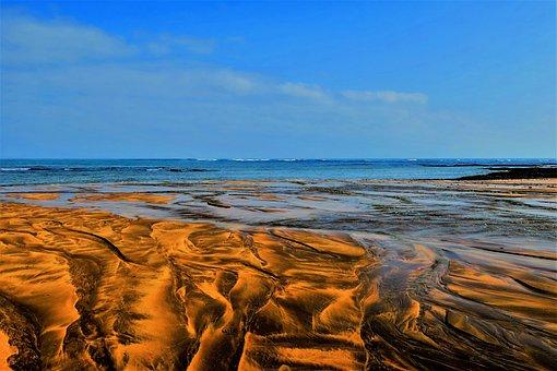 Beach, Sand, Water, Atlantic, Casablanca, Sand Beach