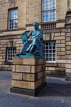 Hume, Statue, Road, Edinburgh, Scotland, United Kingdom