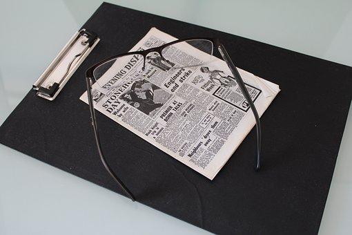 Clipboard, Office, News, Newspaper, Mini, Small, Media