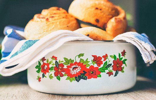 Bowl, Floral, Home, Kitchen, Bake, Towel, Flowers