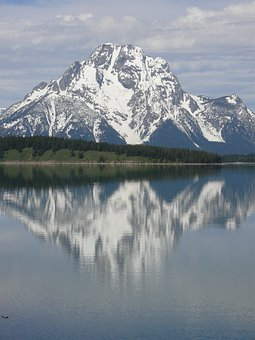 Jackson Lake, Grand Teton, Mountains, Usa, Landscape