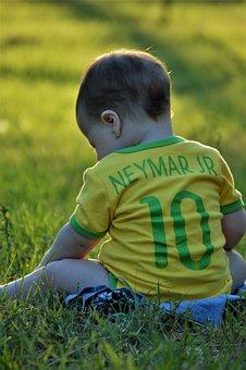 Neymar, Neymar Jr, Baby, Yellow, Nature, Cute