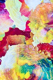 Art, Detail, Abstract, Painting, Wax, Hot Wax