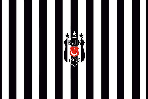 Barth, Besiktasta, Black, White, Form, Flag, Turkey