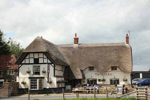 Avebury, Thatched Cottage, Inn, Pub, British, Ancient