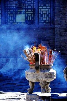 Buddhism, Incense Burner, Smoke