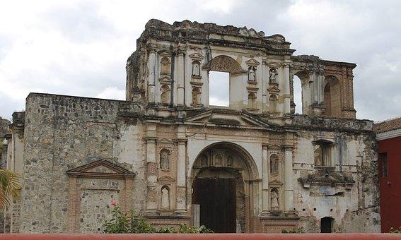 Church Antigua Guatemala, Church, Old Building