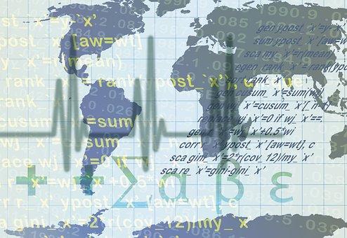 Figures, Statistics, Money, World, Continents, Earth