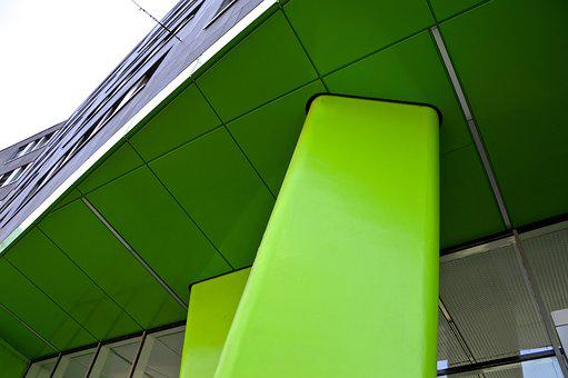 Building, Facade, Pillar, Print Academy, Heidelberg