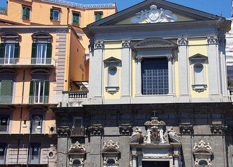Italy, Rome, Church, Facade, Pediment, Porch