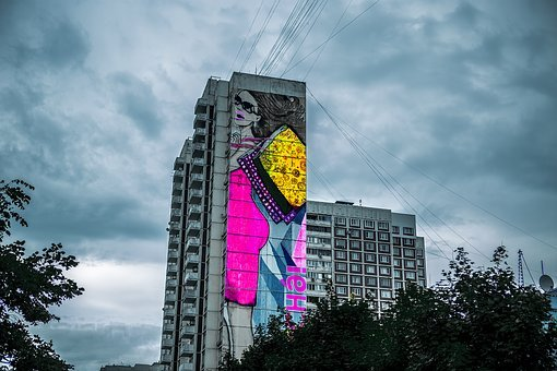 Graffiti, Moscow, Artist, Culture, Graffiti Wall
