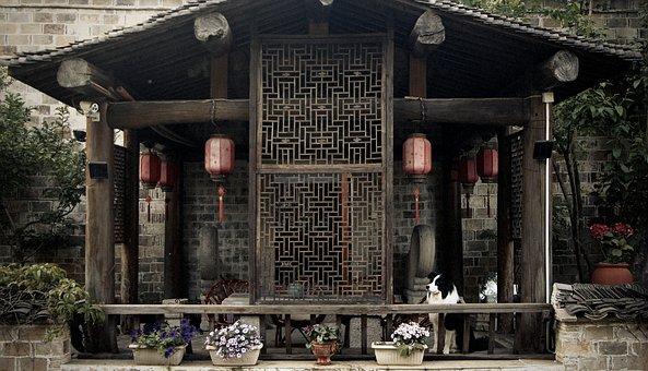Ancient House, Pavilion, Dog