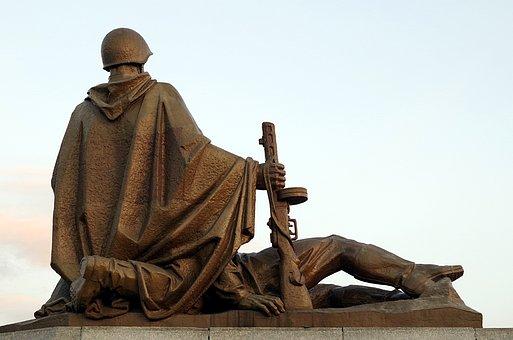 Monument, Sculpture, Soldier, Soviet, Russia