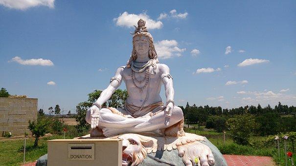 Shiva, A, Lord, Statue
