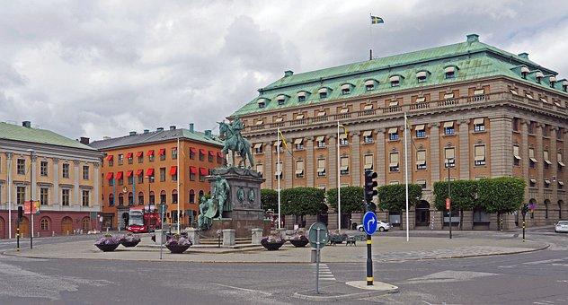 Stockholm, Gustav-adolf-platz, Rondelle
