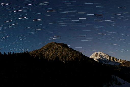 Startrails, Star, Trail, Star Trails, Star Trail