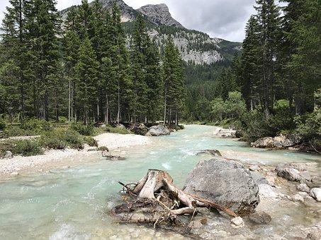 Torrent, Mountain, Nature, Landscape, Water, Rock