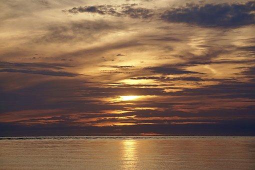 Evening Sky, Abenstimmung, Afterglow, Clouds, Sunset