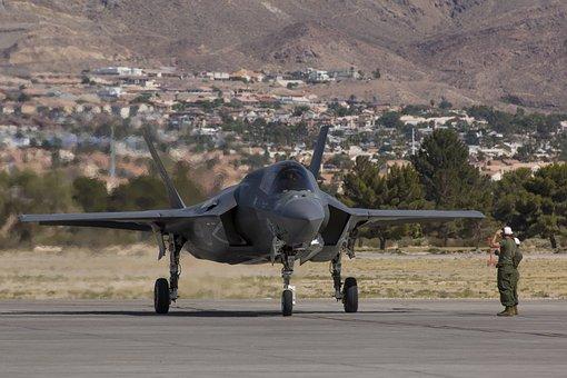 Nellis Afb, F-35b, Lightning Ii, Arrival