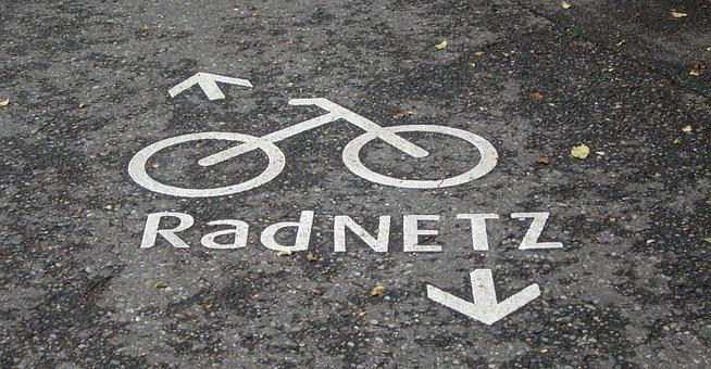Orb Web, Road, Tar, Cycle Path, Asphalt, Away, Wet