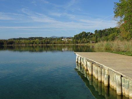 Lake, Bañolas, Banyoles, Landscapes, Nature