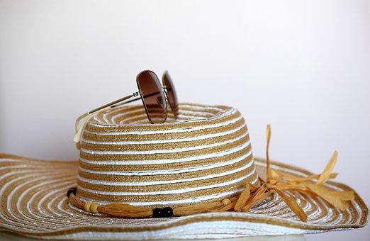 Hat, Glasses, Holiday, Beach, Summer, Sun, Vacation