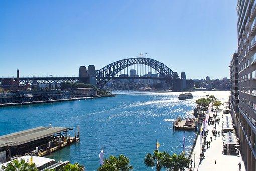 Bridge, Sydney Harbour, Ferries, Wharf, Landmark