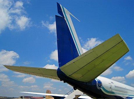 Tail Of B-707, Boeing, Jet, Cargo, Passenger, Aircraft