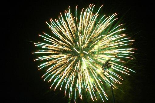 Fireworks, Bright, July 4th, Holiday, Celebration