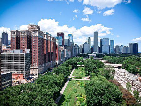 Chicago, Drone, Aerial, Architecture, Building, City