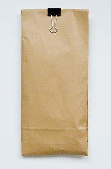 Bag, Paper, Brown, Kraft, Brown Paper Bag, Clip