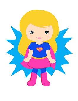 Supergirl, Super Girl, Pink Super Girl, Girl, Super