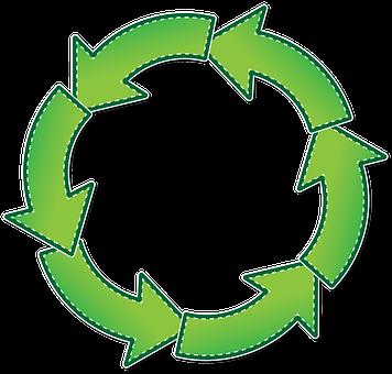 Circle, Arrow, Arrows, Six, Graphic, Green, Design