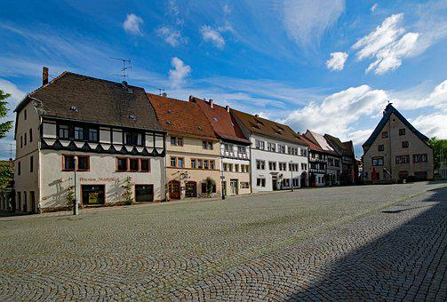 Marketplace, Town Hall, Sangerhausen, Saxony-anhalt