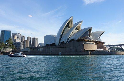 Opera House, Australia, Sydney, City, Travel, Break