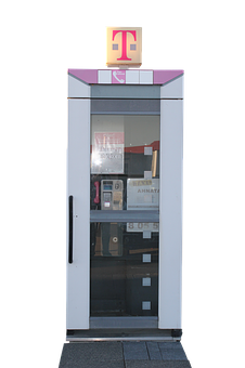 Phone Booth, Phone, Post, Old, Communication, Telephone