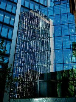 Skyscraper, Reflection, Building, Facade, Architecture