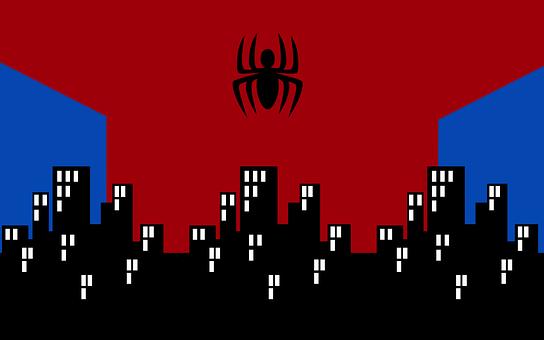 Spiderman, Hero, Spider, Superhero, Comic, City, Design