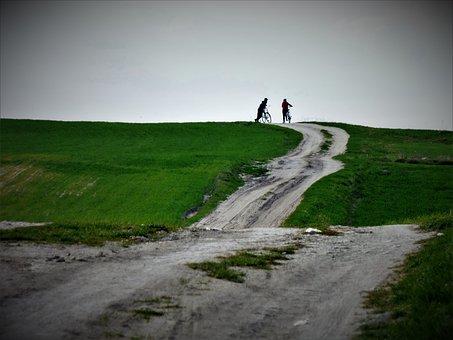 Way, Bike, Bicycles, By Bike, Tourism, The Path, Grass