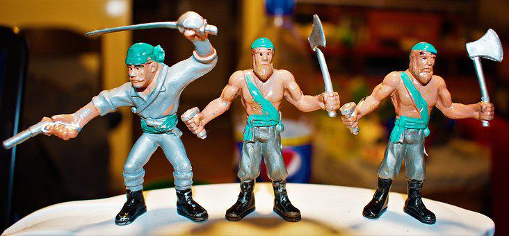 Toys, Pirates, Childhood, Plastic, Miniature