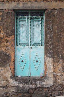 Door, House, Real Estate, Architecture, Old, Blue