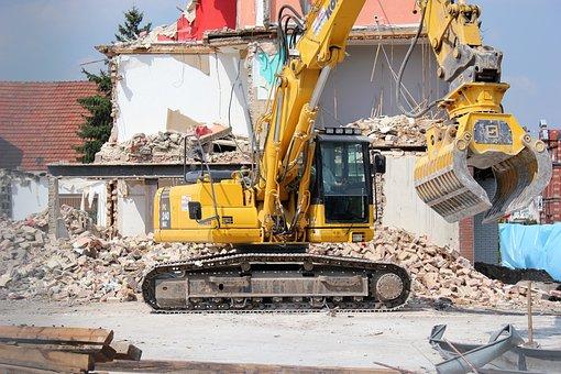 Excavators, Demolition, Construction Vehicle, Crash