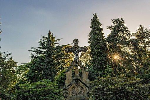Cemetery, Jesus, Christian, Religion, Statue, Crucifix