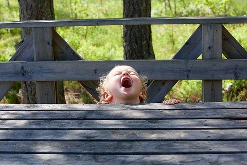 Screams Of Joy, Child, Childhood, Laugh, Fun, Pushover