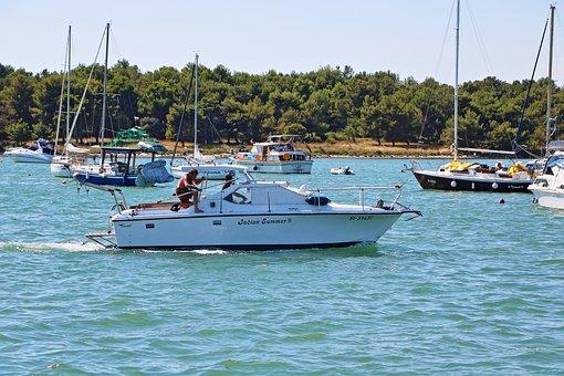 Power, Ship, Sea, Port, Motor Boat, Blue