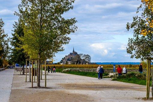 Mont Saint Michel, Saint Michel, Abbey, Bay, France