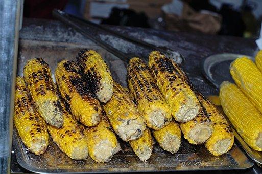 Baked Corn, Street Food, Salted Corn