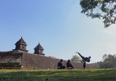 Silat, Temple, Barong, Sport, Martial, Human, Blue, Sky