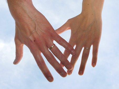 Wedding, Alliance, Sky, Union, In Love, Love, Happiness