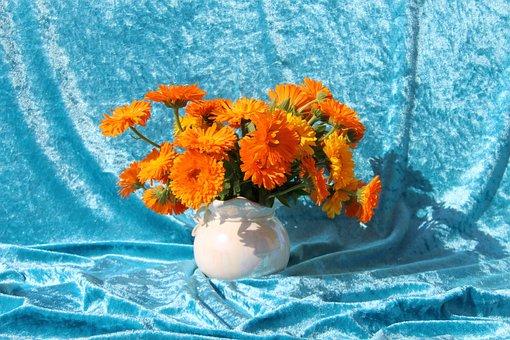 Bouquet, Flower Vase, Flowers, Colorful, Vase, Orange